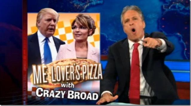 Trump Palin Stewart pizza