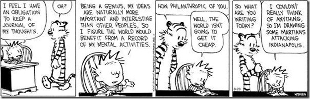 Calvin writes